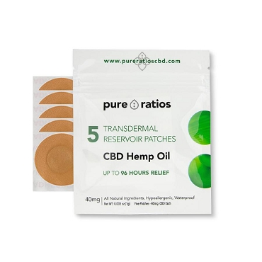 Pure Ratios Hemp Topical Patch (40mg/ea)