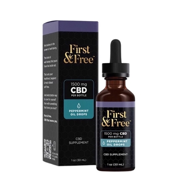 First & Free Extra Strength Peppermint Drops with1500mg CBD