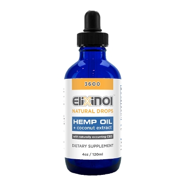 Elixinol Hemp Oil (CBD) 3600mg natural