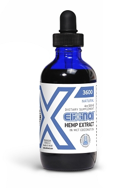 Elixinol Hemp Oil 4oz (CBD) 3600mg natural