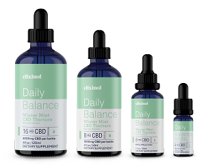 Elixinol Daily Balance Broad-Spectrum CBD Tincture Winter Mint