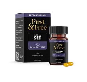 First & Free Extra Strength CBD Softgels 50mg