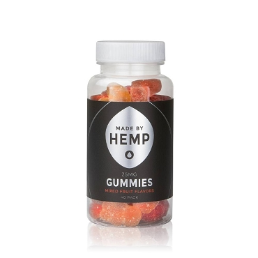 Made by Hemp CBD Gummies (40ct / 25mg ea)