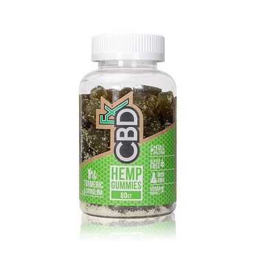 CBDfx CBD Gummies with Turmeric & Spirulina 60pk (5mg each)