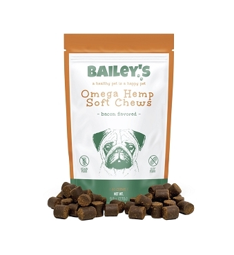Bailey's Omega Hemp Soft Chews - Bacon Flavored NEW!)