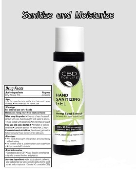 3 pack Hand Sanitizer Gel from CBD for Life