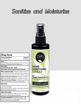 3 pack Hand Sanitizer Spray from CBD for Life