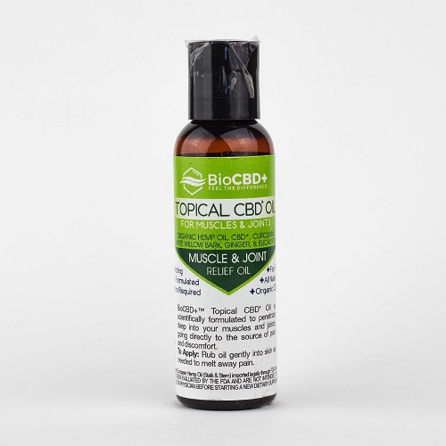 BioCBD+ Topical Oil for Muscles & Joints  2oz 64mg