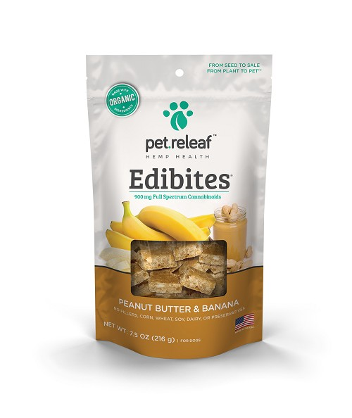 Pet Releaf CBD Dog Treats Peanut Butter & Banana in Large and Small Breed